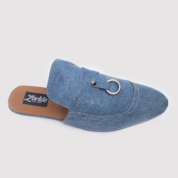 Alte Half Shoes Blue Denim ZMS044 - Zorkle Shoes