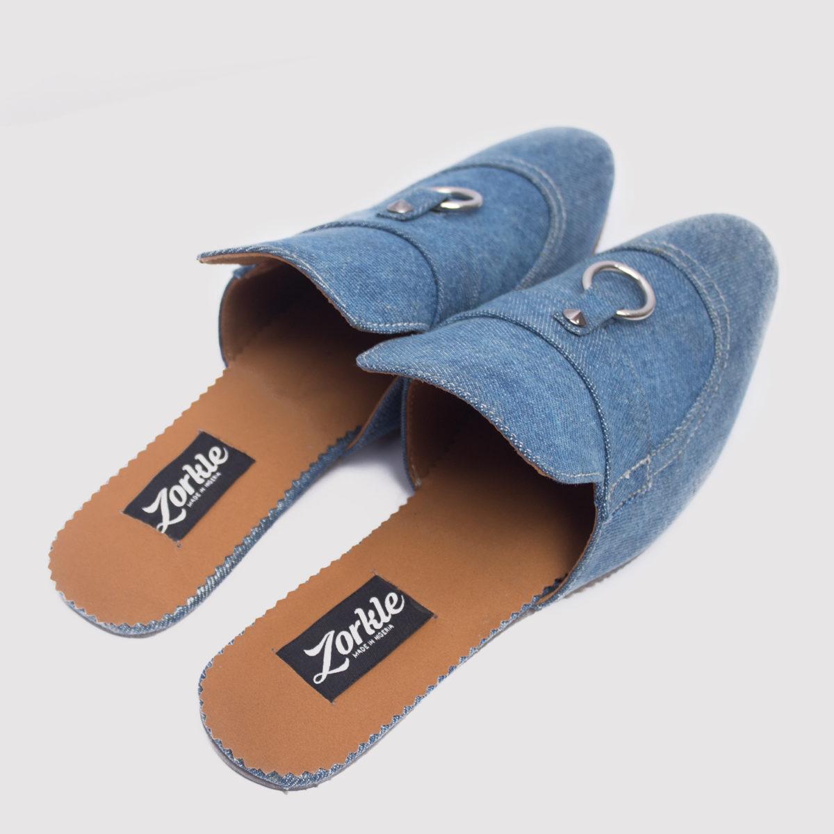Alte Half Shoes Blue Denim ZMS044 - Zorkle Shoes