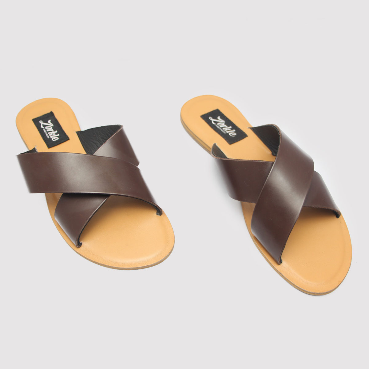 Kruss Slippers Brown Leather ZFP061 - Zorkle Shoes