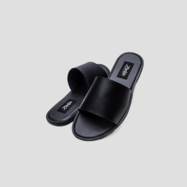 Nero slippers black leather zorkle shoes in lagos nigeria