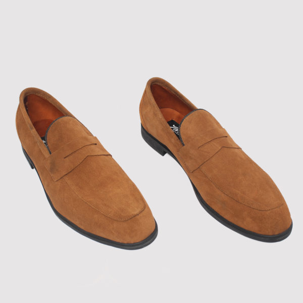 Zorkle Penny Loafers Brown Suede