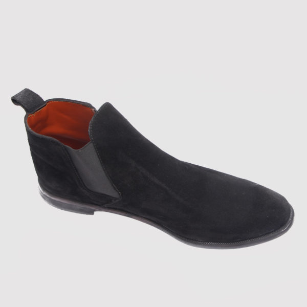 Chelsea boot black suede by zorkle shoes lagos nigeria