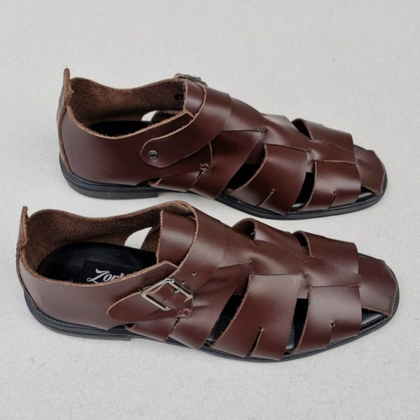 Delta man sandal brown leather ZMD013 Zorkle Shoes, Nigeria
