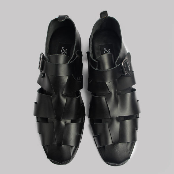 Delta man sandal black leather zorkles shoes in lagos nigeria