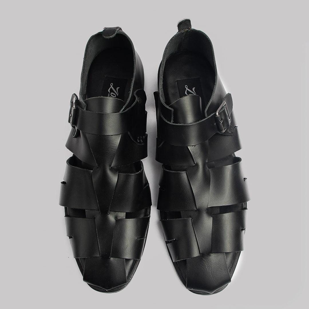 Delta man sandal black leather zorkles shoes in lagos nigeria