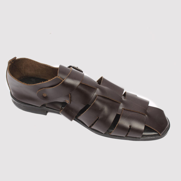 Delta man sandal brown leather zorkle shoes in lagos nigeria