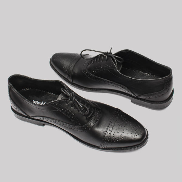Lerke captoe shoes black leather zorkle shoes lagos nigeria