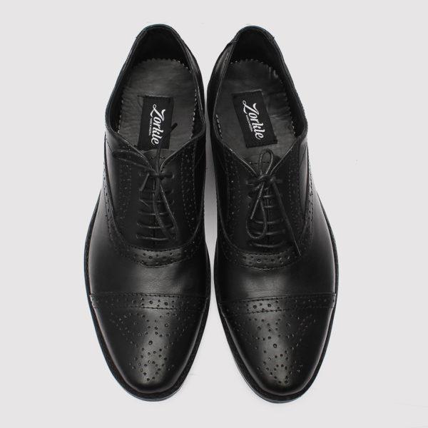 Lerke captoe shoes black leather zorkle shoes lagos nigeria