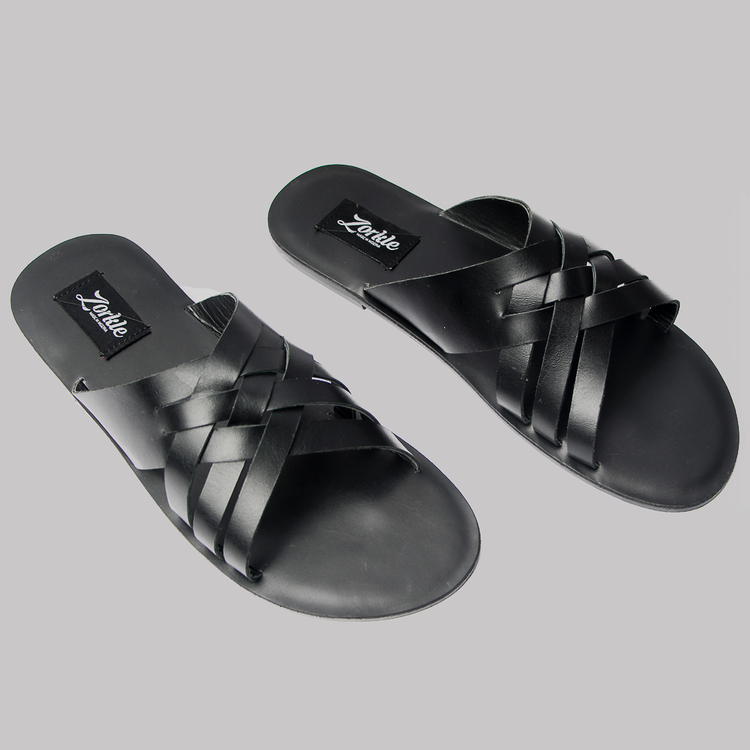 Henney slippers black leather zorkles shoes in lagos nigeria