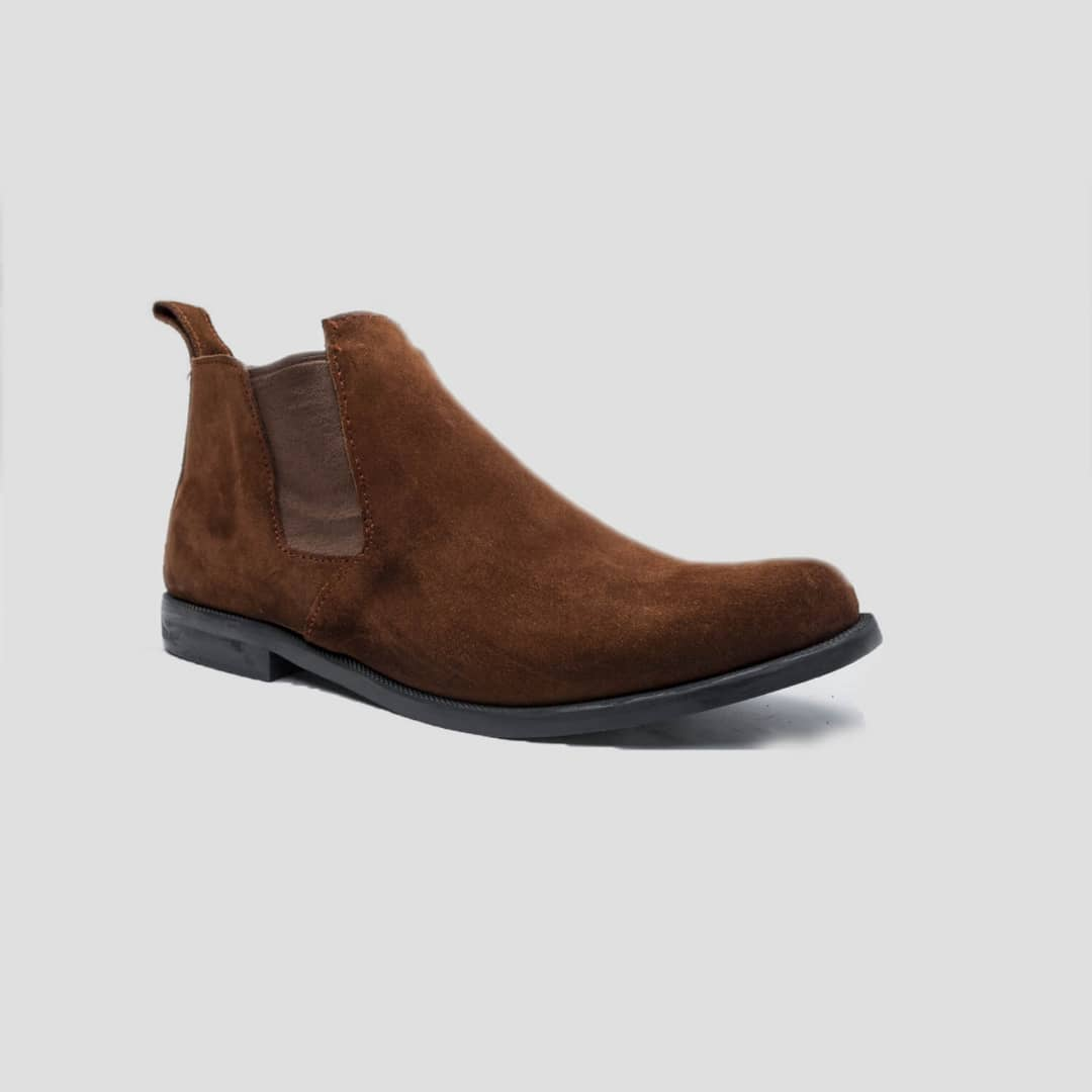 Lennon Chelsea Boots Brown Suede ZMB023 - Zorkle Shoes