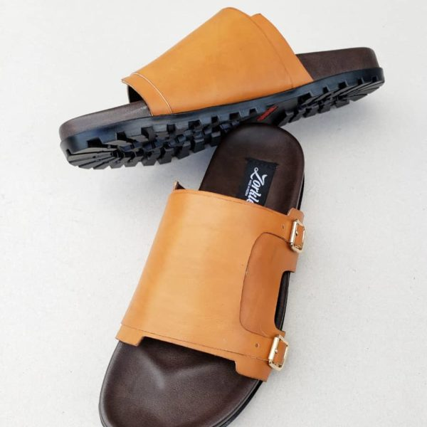 Monk Slippers Brown Leather ZMP099 - Zorkle shoes