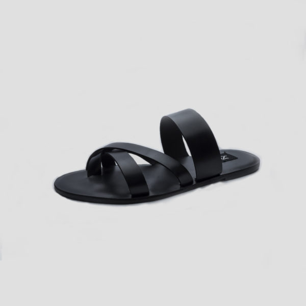 Oluk slippers black leather zorkle shoes in lagos nigeria