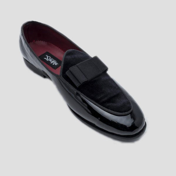 Patent bow loafers black zorkle shoes in lagos nigeria