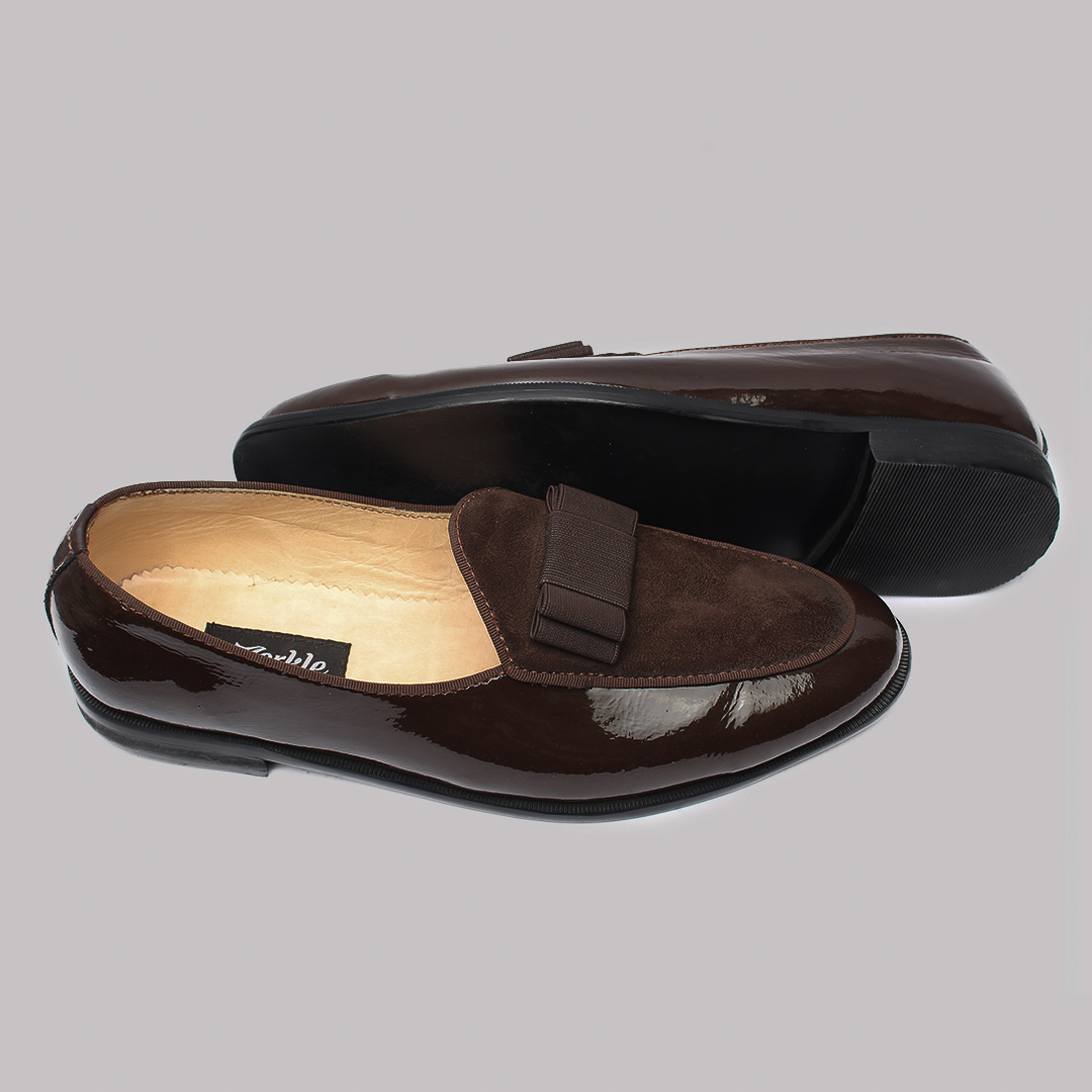 Patent bow loafers brown zorkles shoes in lagos nigeria