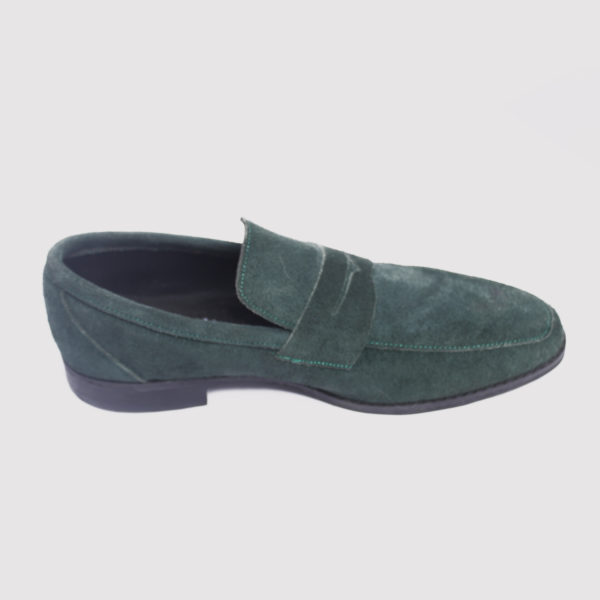 Penny loafers green suede zorkle shoes in lagos nigeria