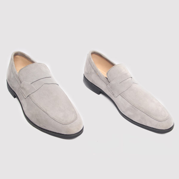 Penny loafer grey suede zorkle shoes in lagos nigeria