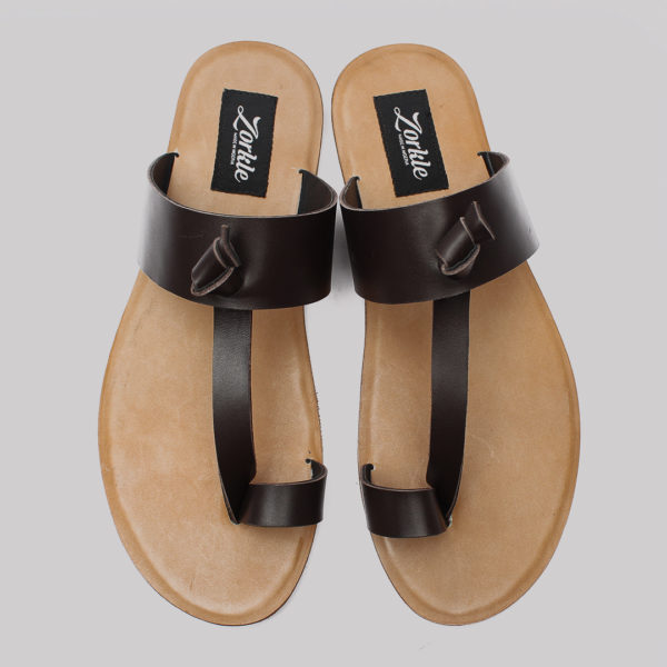 Thong Sandals Brown Leather zorkle shoes in lagos nigeria