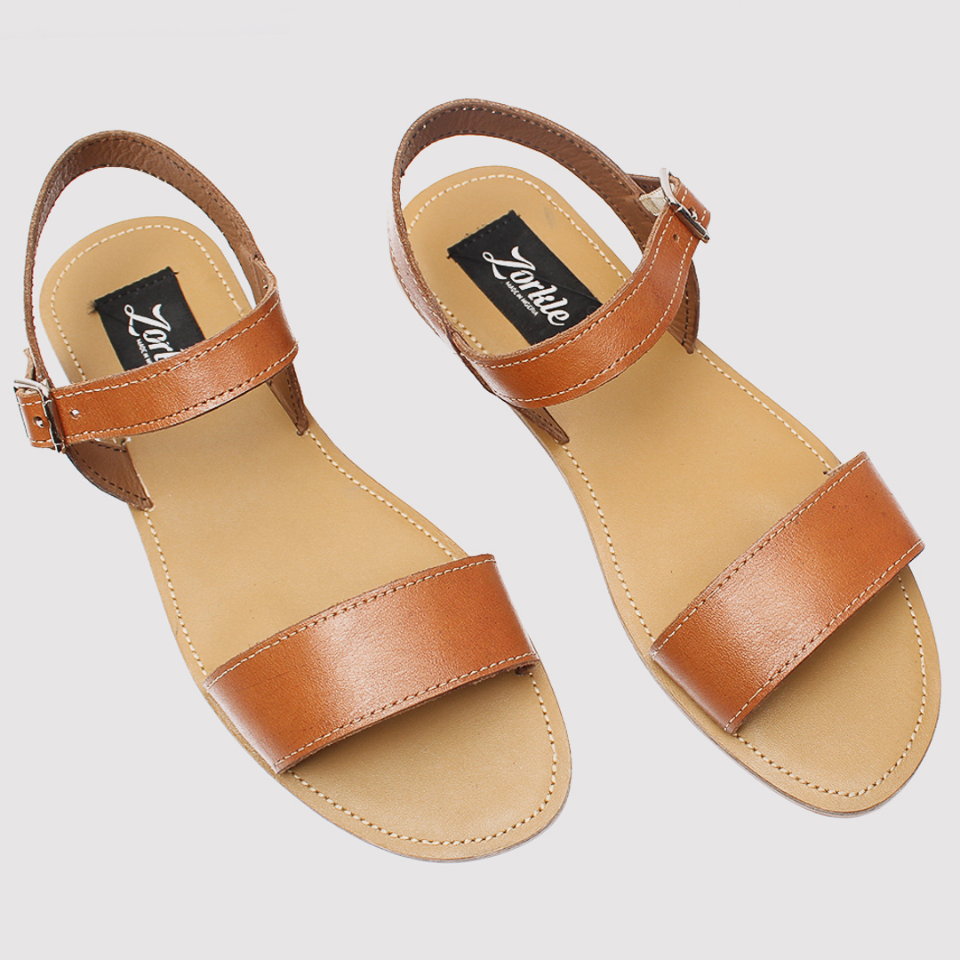 Toni sandals brown leather zorkles shoes in lagos nigeria