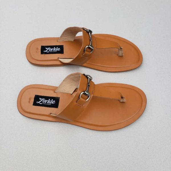 Trey Slippers brown Leather ZMP105 - Zorkle Shoes