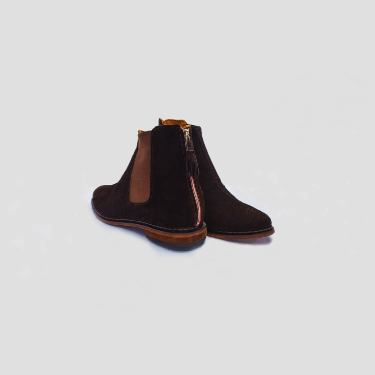 chelsea boots brown suede zippers zorkle shoes lagos nigeria