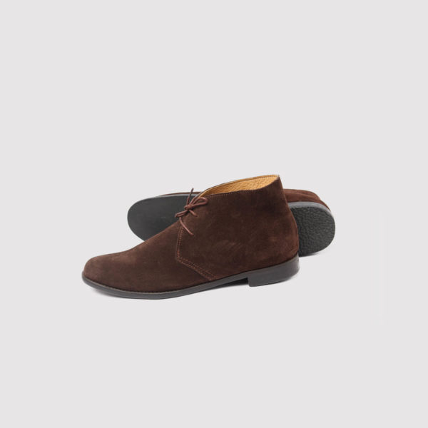 chukka boots brown suede by zorkle shoes in lagos nigeria