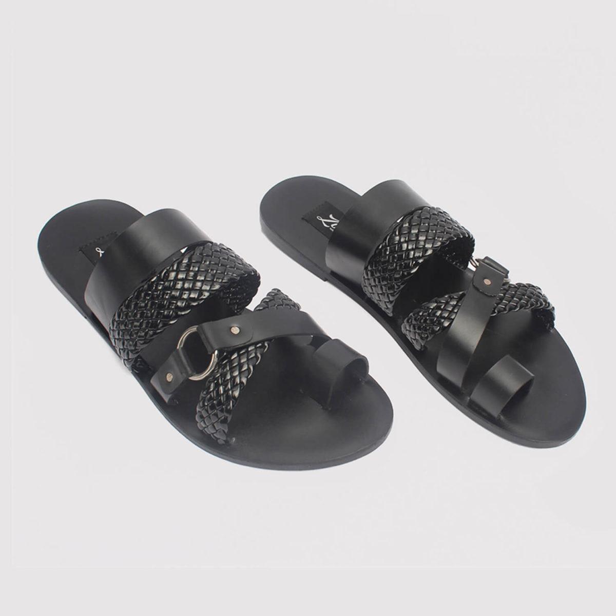 dandi toe slippers black leather zorkle shoes in lagos nigeria