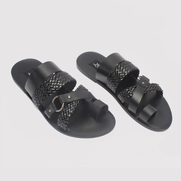 dandi toe slippers black leather zorkle shoes in lagos nigeria