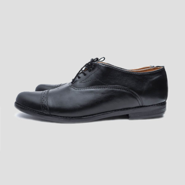 Elnuk captoe shoes black leather zorkle shoes lagos nigeria