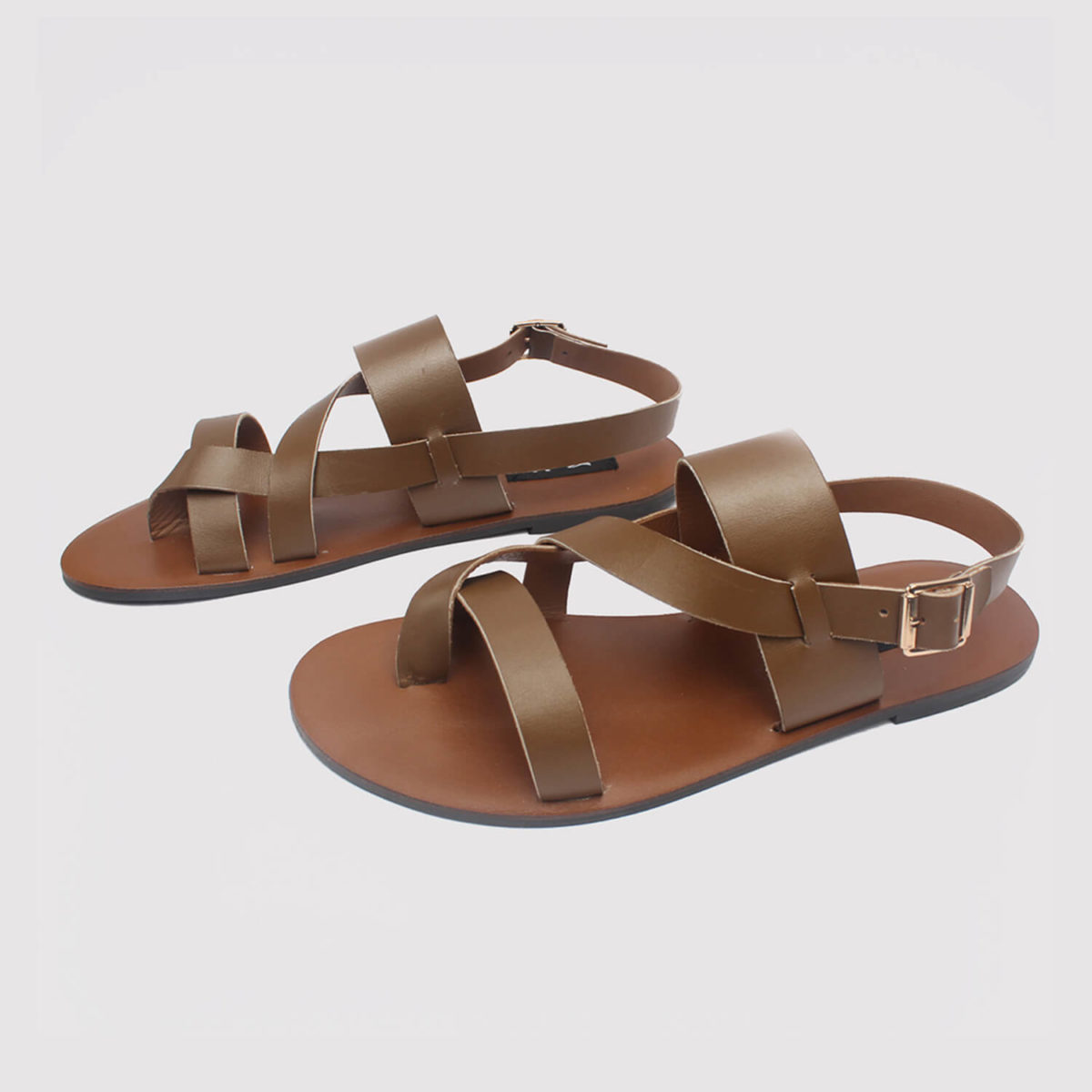 kuti sandals brown leather by zorkle shoes in lagos nigeria