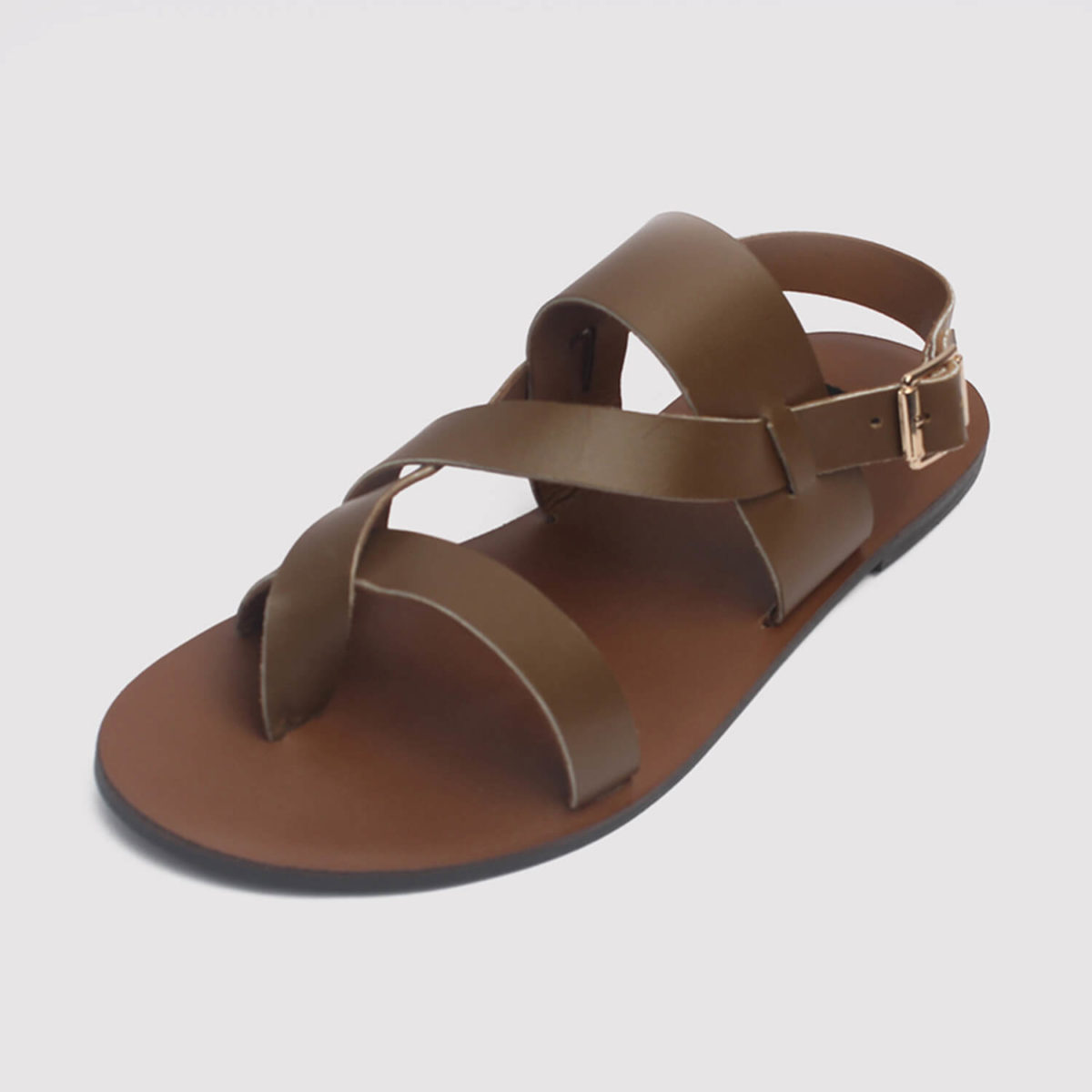 kuti sandals brown leather by zorkle shoes lagos nigeria
