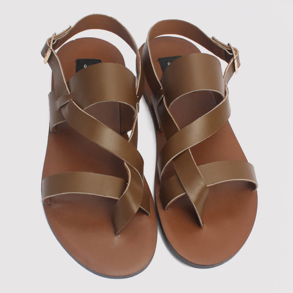 kuti sandalKuti Sandals Coffee Brown Leather ZMD016 - Zorkle Shoess brown leather zorkle shoes lagos nigeria