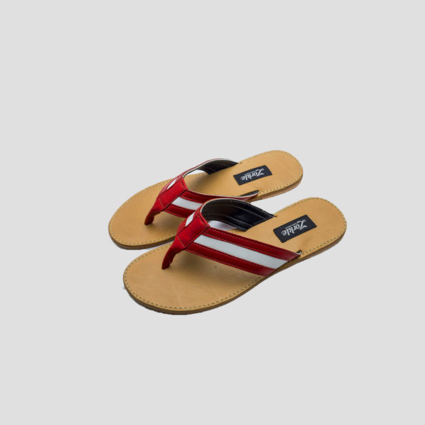 lere flex slippers red white leather zorkle shoes lagos nigeria