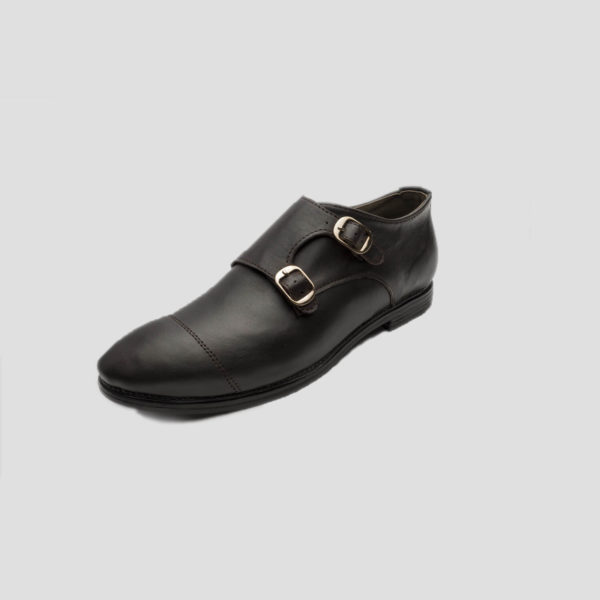 Monk Double Strap Shoes Coffee Leather zorkle shoes lagos nigeria