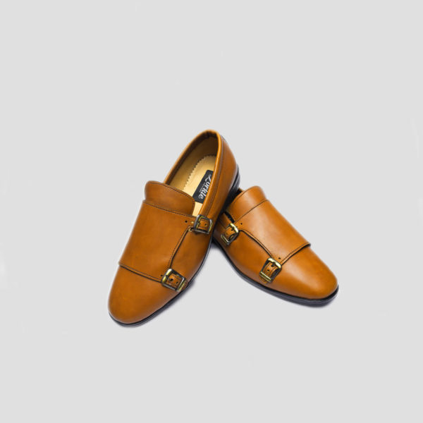 Monk Double Strap Shoes Brown Leather zorkle shoes lagos nigeria