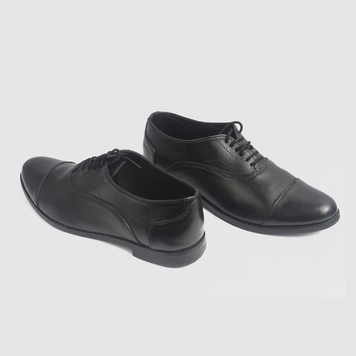 oxford black leather shoes by zorkle shoes lagos nigeria