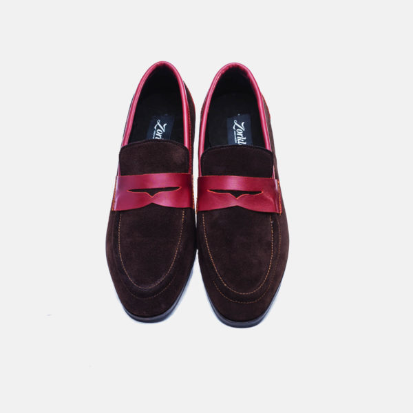 Penny loafers bitter chocolate suede zorkle shoes lagos nigeria