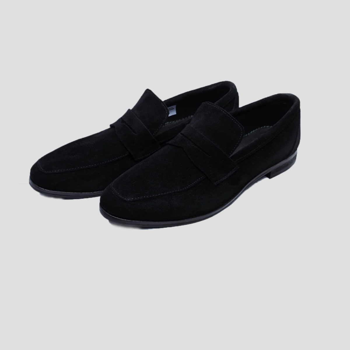 penny loafers black suede zorkle shoes lagos nigeria
