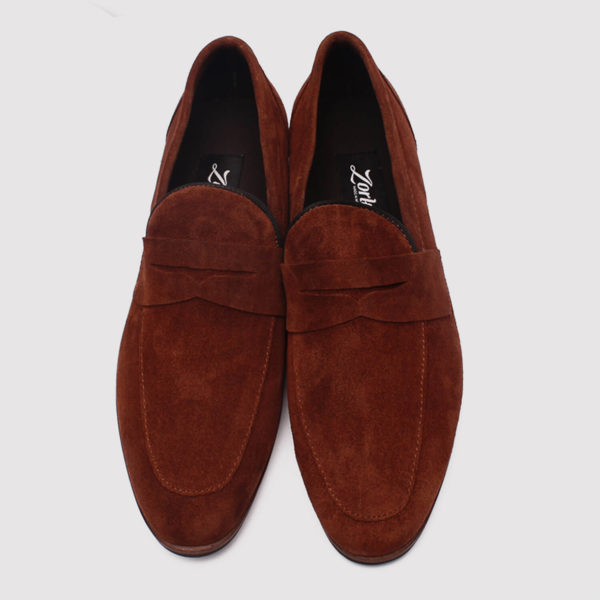 penny loafers brown suede zorkle shoes lagos nigeria
