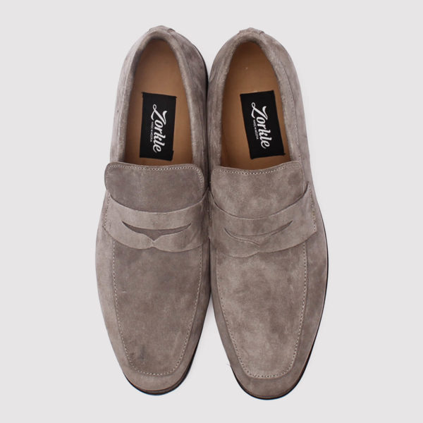 penny loafers grey suede zorkle shoes lagos nigeria