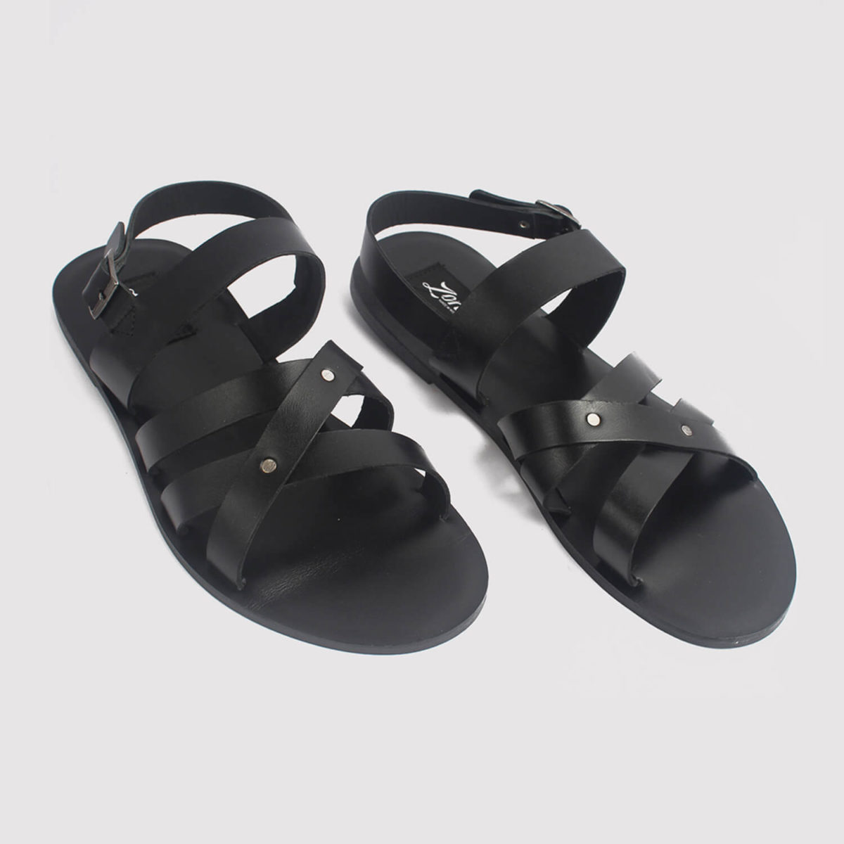 roman gladiator sandals black leather zorkle shoes in lagos nigeria