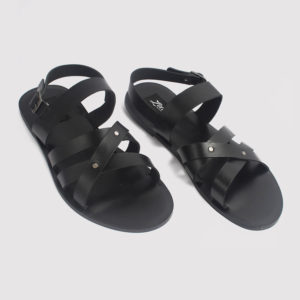 roman gladiator sandals black leather zorkle shoes