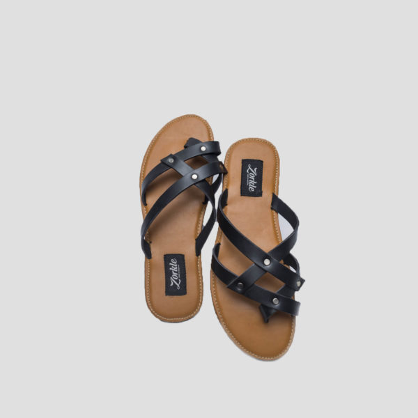 tac slippers black leather zorkle shoes lagos nigeria