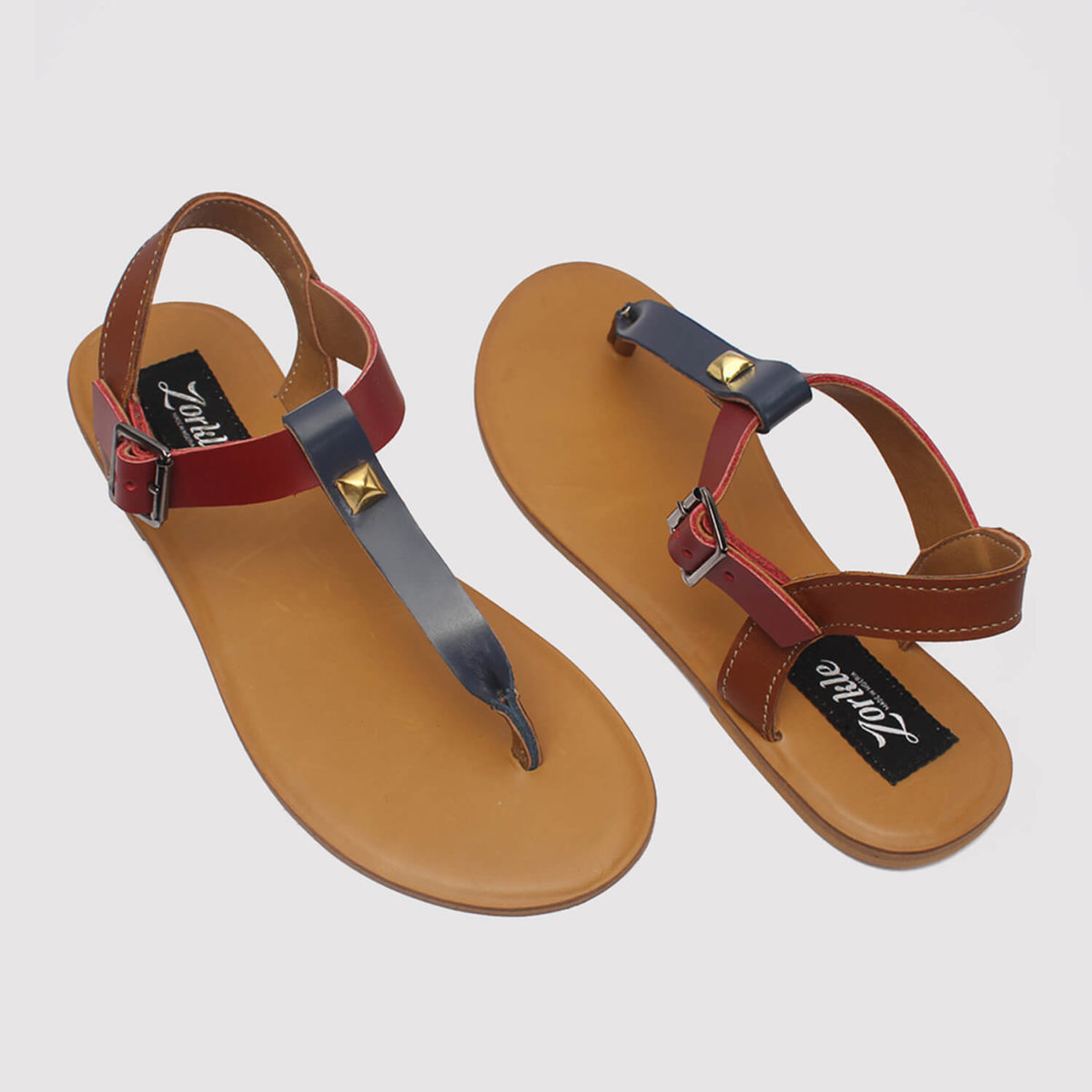 toke sandals blue brown red by zorkle shoes in lagos nigeria