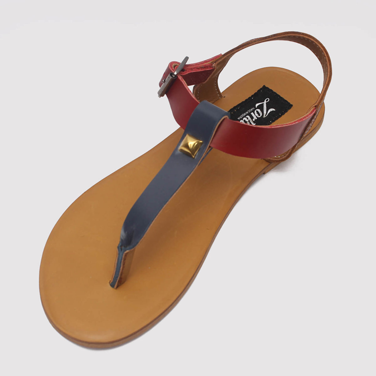 toke sandals blue brown red by zorkle shoes lagos nigeria