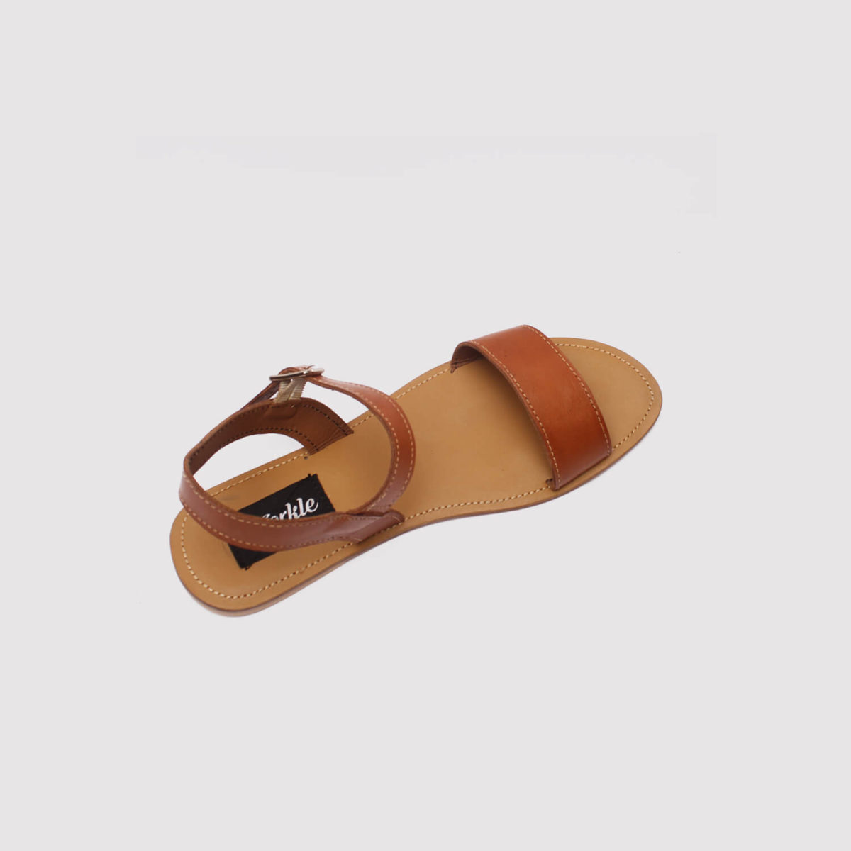 toni sandals brown leather by zorkle shoes in lagos nigeria