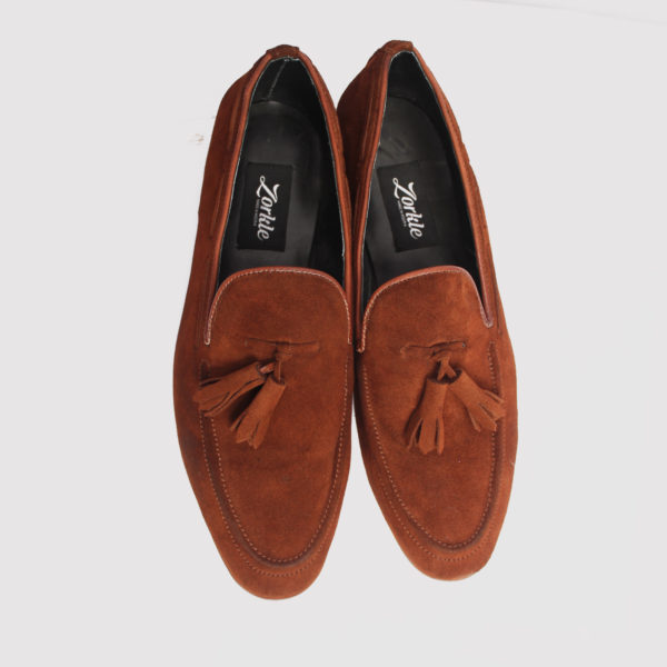Trevor tassle loafers brown suede zorkle shoes in lagos nigeria