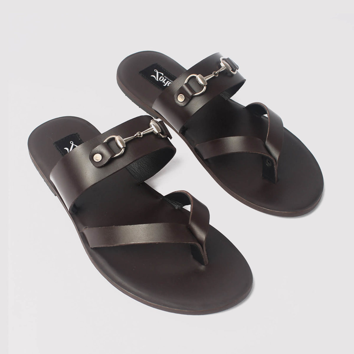 trey bow slippers coffee brown leather zorkle shoes in lagos nigeria