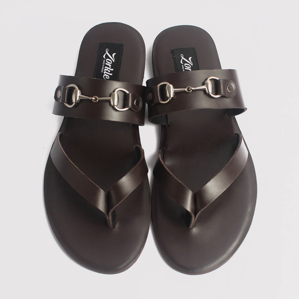 trey bow slippers coffee brown leather zorkle shoes lagos nigeria