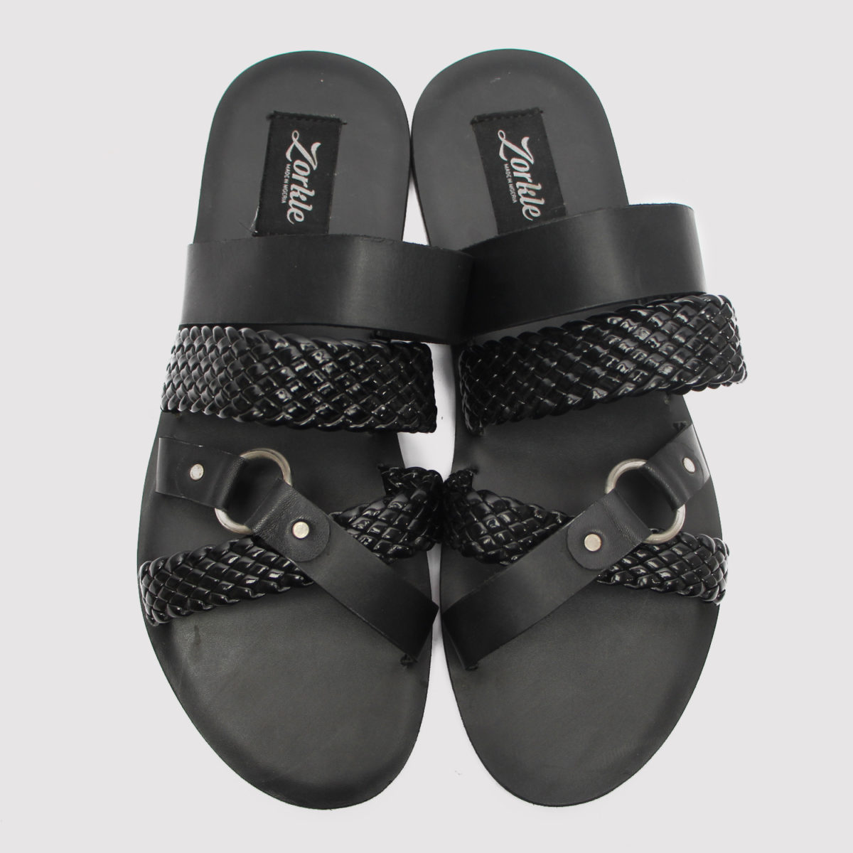 Dandi slippers black leather zorkles shoes in lagos nigeria