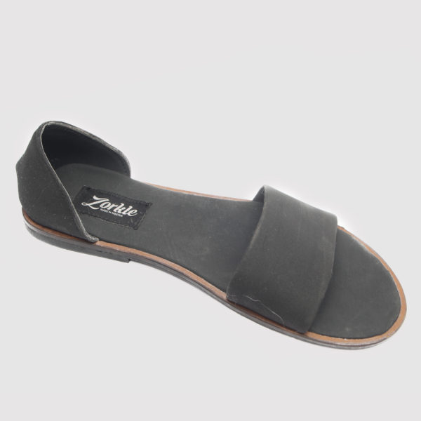 Kisha sandals black leather zorkle shoes in lagos nigeria